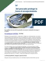 El Omega 3 Del Pescado Protege La Memoria y Frena El Envejecimiento - ElConfidencial.com