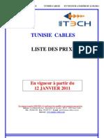 Tarif Tunisie Cables 12-01-2011