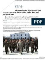 Revealed North Korean Leader Kim Jong-Il 'Died in Fit of Rage A