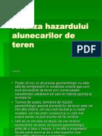 Curs 3 Analiza Hazardului Alunecarilor