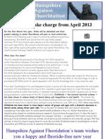 HAF Jan 2013 Newsletter