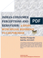 Consumer Behaviour in Purchase of Cars in India