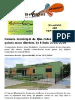 Camara municipal de Queimdas define nesta quinta mesa diretora do biênio 2015-2016