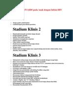 Stadium Klinis HIV