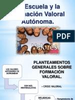EXPOSICIÓN FORMACIÓN VALORAL.