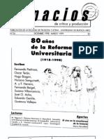 Espacios Nro24 Dossier Reforma Universitaria