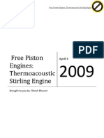 Free Piston Engines Thermoacoustic Stirling Engine