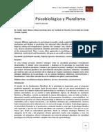 Causalidad Psicobiológica y Pluralismo