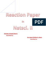 Reaction Paper