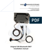 Installation Manual Bluetooth VW 9W7 ENGLISH