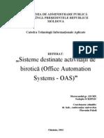 Sisteme destinate activitatii de birotica