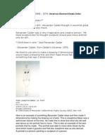48350578 Alexander Calder Simplifed Notes
