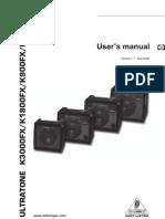 K3000FX Manual Teclado Amplifier