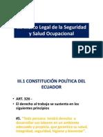 Marco legal de seguridad y salud ocupacional en el Ecuador