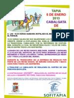 Cartel de La Cabalgata 2013