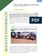 Boletín Nº 3 Programa Factoría Emprendedora - Empresas Creando Empresas