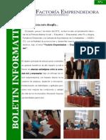 Boletin Nº 1 Programa Factoría Emprendedora - Empresas Creando Empresas