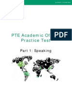 Part 1 Speaking PTEA Practice Test
