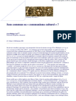 "Sens commun ou ""communisme culturel"""