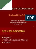 cerebrospinal fluid examination