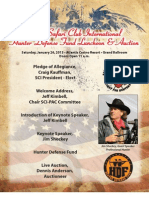 2013 Safari Club International Hunter Defense Fund Luncheon & Auction Program