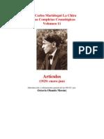 Vol 11 - MARIATEGUI - Obras Completas Cronológicas. 1929. (AUDIOLIBROS)