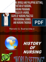 nursing history (world and philippine setting), definition of nursing, nursing programs, roles of a nurse, scope of nursing practice and prefessional crimes