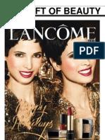 Lancome Holiday Catalogue