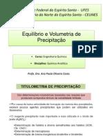anapaulacosta-6ª Aula equilibrio e  Volumetria de precipitação - dado EQ.pdf