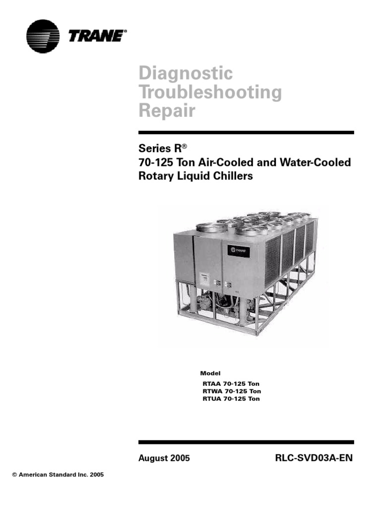 Diagnostico, Problemas y Reparacion de Chillers Trane serie RTA    Chlorofluorocarbon   Electrical Resistance And Conductance