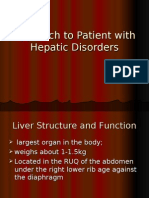 Approach to Patient With Hepatic Disorders