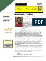 Theta Newsletter Winter 2012-2013