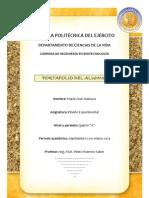 Carátula Portafolio del Alumno