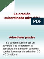 LA ORACIÓN SUBORDINADA ADVERBIAL. CORVERA