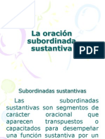 LA ORACIÓN SUBORDINADA SUSTANTIVA. CORVERA