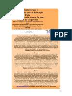 REFLEXOES HISTORICAS E ANTROPOLOGICAS SOBRE EDUCAÇÃO FISICA