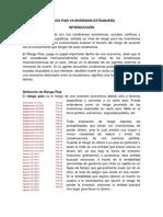 Riesgo pais vs Inversion extranjera en ecuador