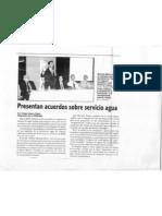 """""""Presentan Acuerdos Sobre Servicios de Agua"""""""