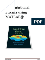 Computational Physics Using MATLAB