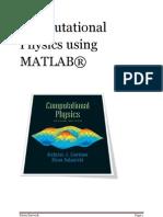 Computational Physics Using MATLAB