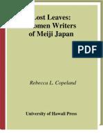 Lost Leaves Women Writers of Meiji Japan