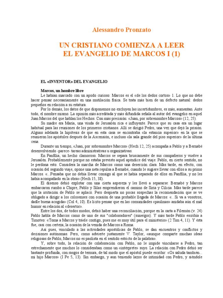 31118124 Pronzato Alessandro Un Cristiano Comienza a Leer El ...