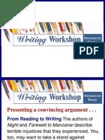 Persuasive Writing Essay Writing Workshop