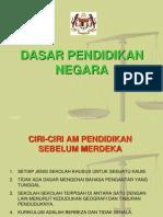 Dasar Pendidikan Negara 1