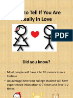 How to Tell If You Are Really in Love