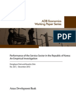 Performance of the Service Sector in the Republic of Korea
