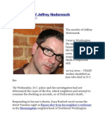 The murder of Jeffrey Nedoroscik