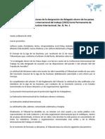 Opinión sobre las condiciones de la designación de delegado obrero de los países bajos a la conferencia internacional del trabajo [1922] Corte Permanente de Justicia Internacional, Ser. B, No. 1