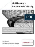 Digital literacy - Reading the internet critically