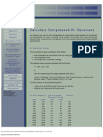 Calculate Compressed Air Receivers